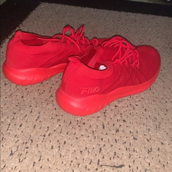 Fila Shoes | Fila All Red Athletic